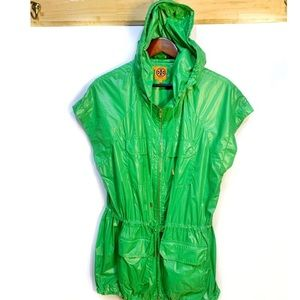 Tory Burch Windbreaker | Rain Jacket /Vest Hooded